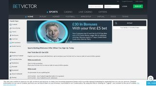 Latest Sports Betting Welcome Bonus - Sign Up - BetVictor