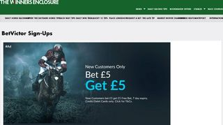 BetVictor Sign Up Offers & Free Bet Deals | TheWinnersEnclosure