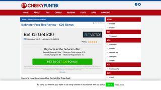 BetVictor Free Bet February 2019 - Bet £5 Get £30 Bonus