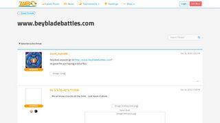 www.beybladebattles.com - World Beyblade Organization
