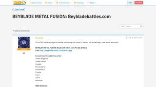 BEYBLADE METAL FUSION: Beybladebattles.com - World Beyblade ...