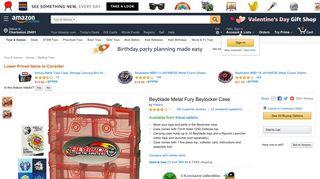 Amazon.com: Beyblade Metal Fury Beylocker Case: Toys & Games
