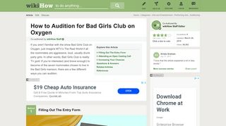 3 Ways to Audition for Bad Girls Club on Oxygen - wikiHow