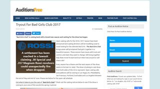 Tryout for Bad Girls Club 2017 | Auditions Free