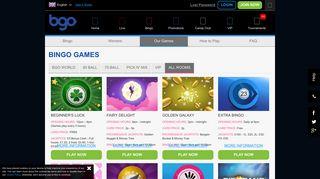 Bingo Games - BGO Casino