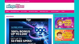 Bgo Bingo   Get 10 FREE Spins, No Deposit Required! - Bingo Mum