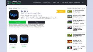 Bgo Casino Mobile Apps Review   BGO Casino App   GamblingAppStore