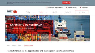 Exporting to Australia   Bibby Financial Services