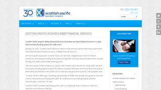 Scottish Pacific acquires Bibby Financial Services