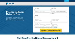 Demo Trading Platform | Nadex