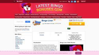 Bingo Liner | £30 No Deposit Bingo Bonus - Latest Bingo Bonuses