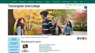 Blackboard Learn - Farmingdale - Farmingdale State College
