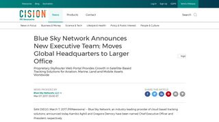 Blue Sky Network Announces New Executive Team; Moves Global ...