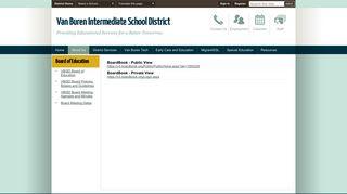 VBISD Board Meeting Agendas and Minutes - Van Buren Intermediate ...