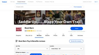 Working at Boot Barn: 80 Reviews about Pay & Benefits | Indeed.com