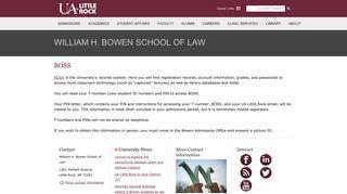 BOSS | William H. Bowen School of Law | University of Arkansas at ...