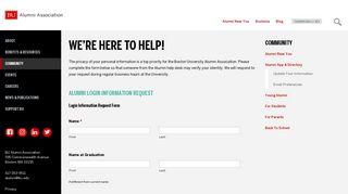 We're Here to Help! | Alumni Association - Boston University