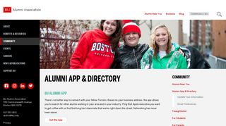 Alumni App & Directory | Alumni Association - Boston University