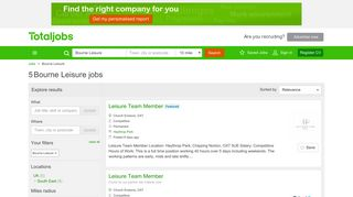 Bourne Leisure Jobs, Vacancies & Careers - totaljobs