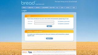 Login - bread™ The 5 Star Prepaid Mastercard