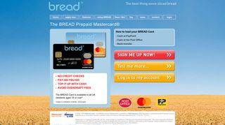 bread™ Prepaid Mastercard - Prepaid Mastercard Home Page