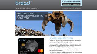 Bread4Scrap: Prepaid Mastercard Home Page