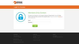Bridge Builders™ » Login to Access