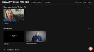 Browse - BRILLIANT TV BY GRAHAM COOKE
