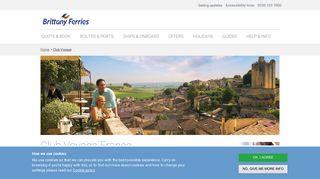 France Membership   Club Voyage - Travel Club - Brittany Ferries
