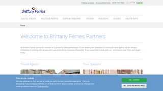 Partners - Agents, Tour Operators, Groups & Affiliates - Brittany Ferries