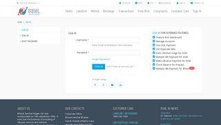 Authorize | BSNL Portal