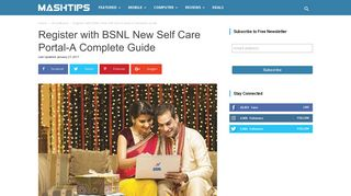 Register with BSNL New Self Care Portal-A Complete Guide ...