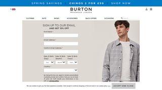Sign up - Burton Menswear