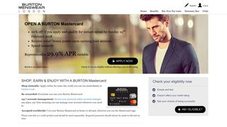Burton Mastercard