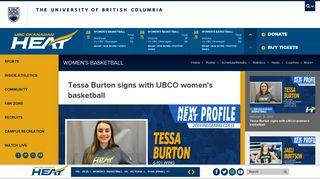 Tessa Burton signs with UBCO women's basketball - UBC Okanagan ...