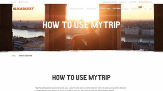 How To Use MyTrip | Busabout