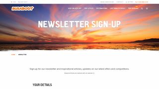 Newsletter Sign-up | Busabout