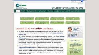 Welcome to the CAASPP Website