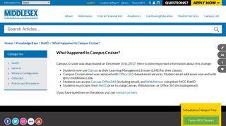 Campus Cruiser Help - Middlesex County College