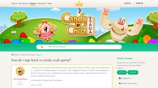 how do i sign back in candy crush game? — King Community