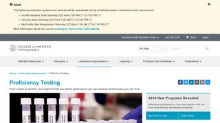 Proficiency Testing | College of American Pathologists