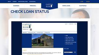 Check Loan Status - Capital Bank