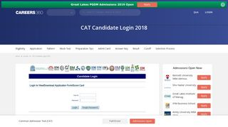 CAT Candidate Login 2018 – Registration, Admit Card, Result - Bschool