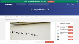 CAT Registration 2018, Image Correction - Check here - Bschool