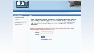 CATREG.ORG :: User Login Information
