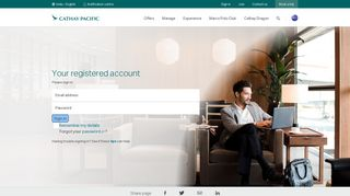Your registered account - Cathay Pacific