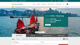 Cathay Pacific: Online Flight Booking | Airfare | India