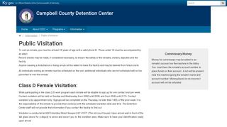 Public Visitation - Campbell County Detention Center