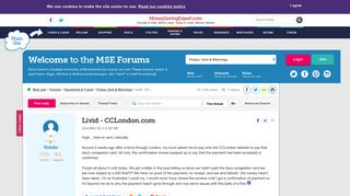 Livid - CCLondon.com - MoneySavingExpert.com Forums