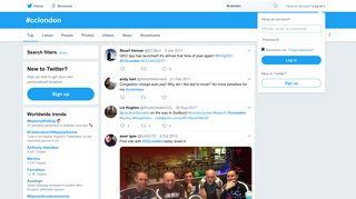 #cclondon hashtag on Twitter